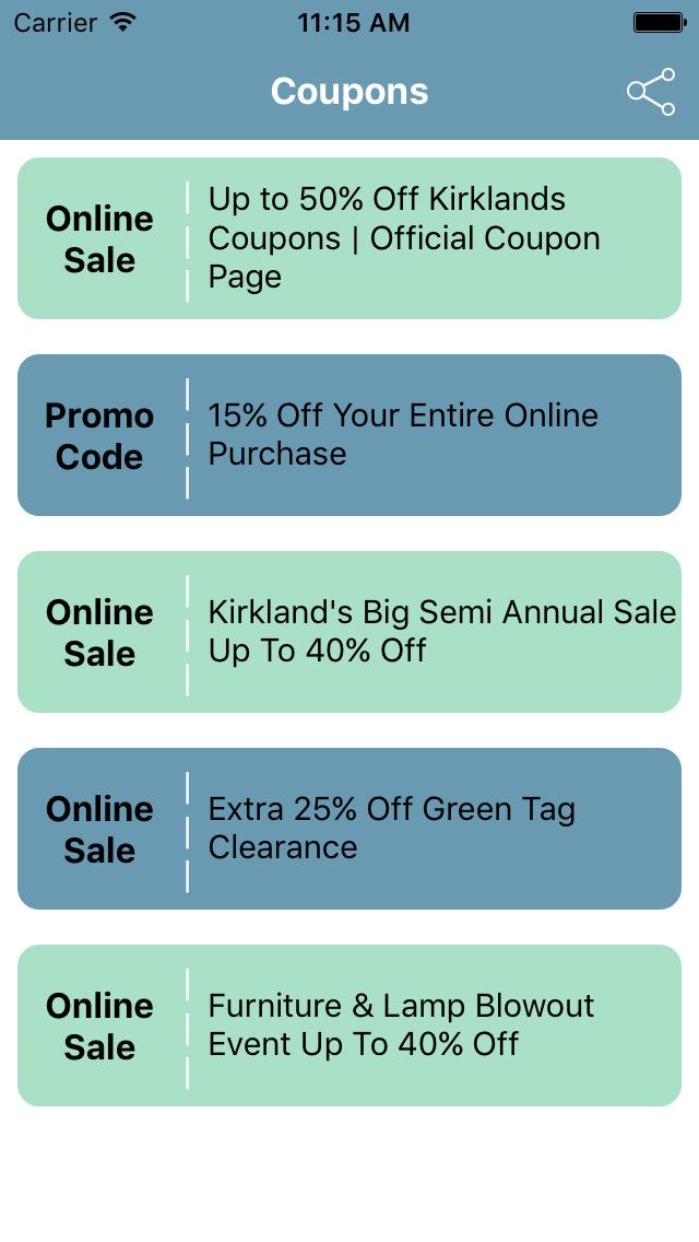Kirklands coupons app