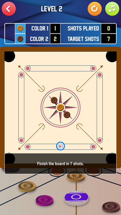 M-Carrom Lite iPhone Screenshot 2