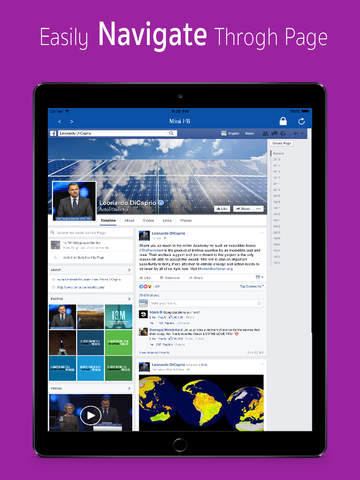 Mini for Facebook - with Lock Feature Screenshots