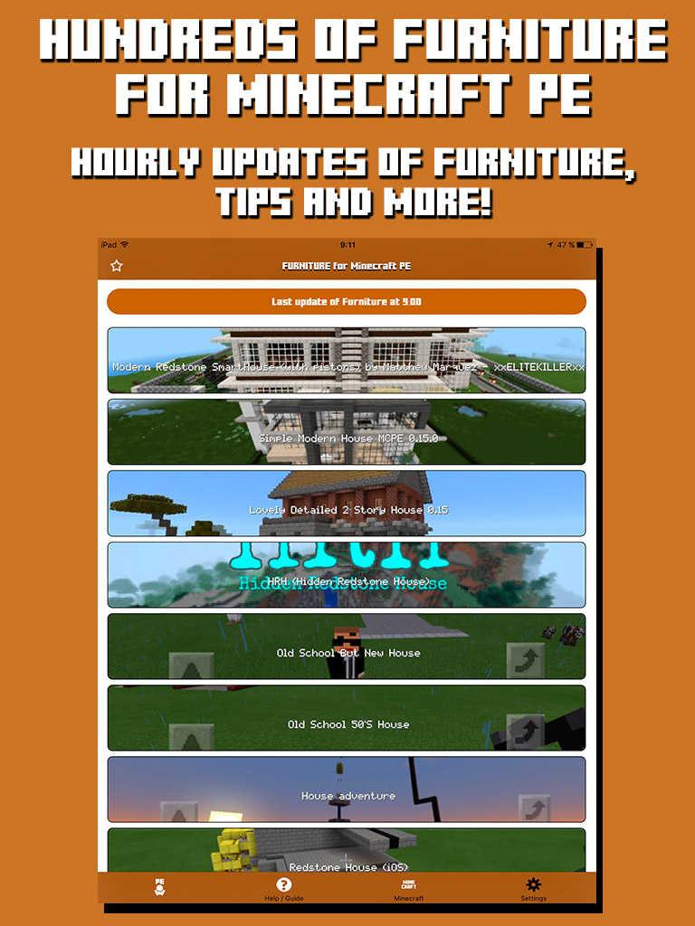 App shopper furniture for minecraft pe furniture for Furniture app