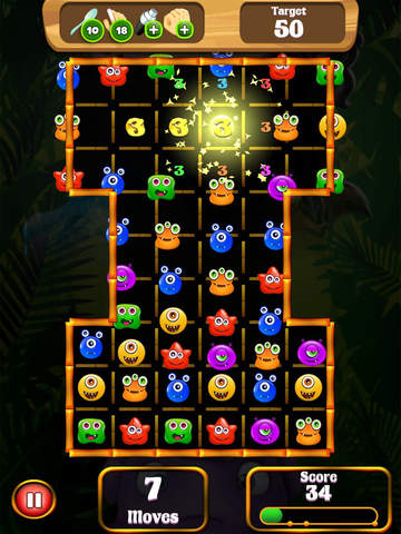 Monster Mingle - 3 Match Game For Candy Crush Saga Friends Pro Screenshots