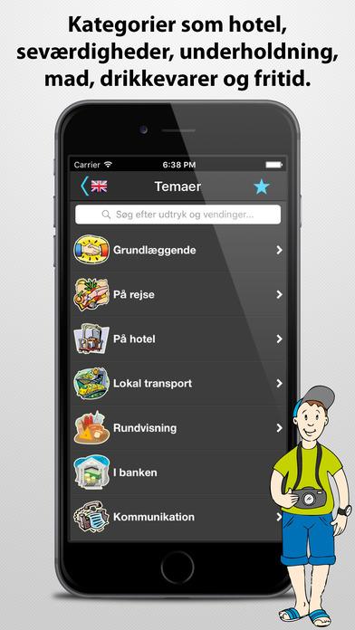 Rejsetolken iPhone Screenshot 3