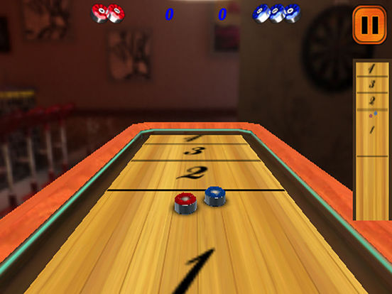 3D Shuffle-Board&Bowling Lite iPad Screenshot 1