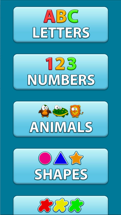 ABC Audio Talking Baby Learning Game Free Lite iPhone Screenshot 1