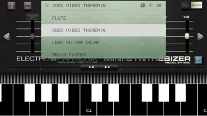 Mini Synthesizer for iPhone screenshot 3