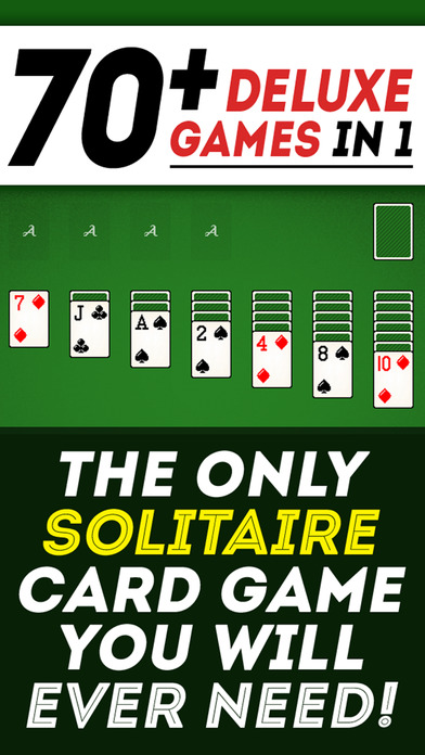 Solitaire 70+ Card Games in 1 Premium Version : Tripeaks, Klondike, Hearts, Pyramid, Plus More! Screenshot