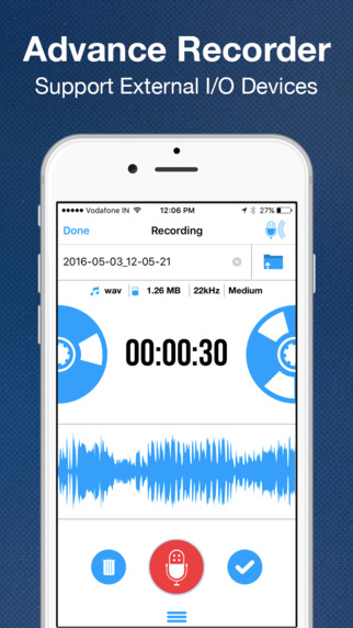 Recorder App Pro - Audio Recording, Voice Memo, Trimming, Playback and Cloud Sharing Screenshots