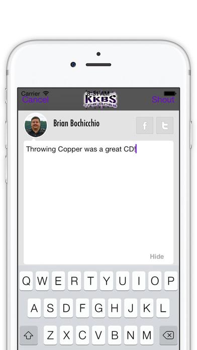 KKBS Radio iPhone Screenshot 2
