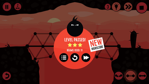 Fat Dots Bridge Builder - Two Dots on The Dangerous Journey Screenshot