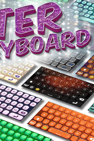 Glitter Keyboard Maker – Free Custom Keyboard Skins with Fancy Fonts and Color Backgrounds screenshot 2
