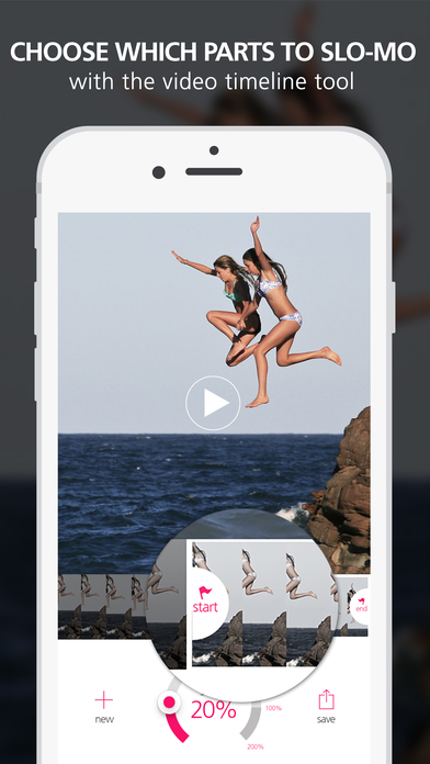 Screenshots of Slo Mo Video - Slow Motion Vid Speed Editor for YouTube and Instagram for iPhone