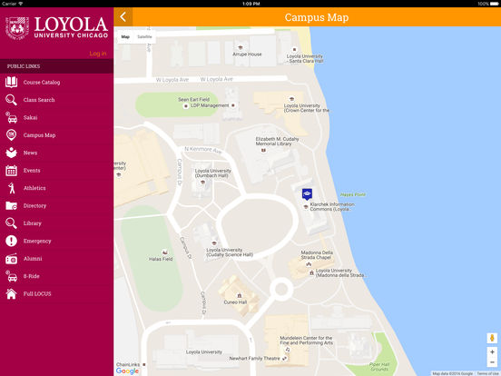 Loyola iPad Screenshot 1