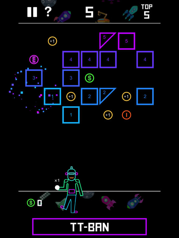 AA BBTAN - shoot 'em all bricks puzzle bb tan Screenshot