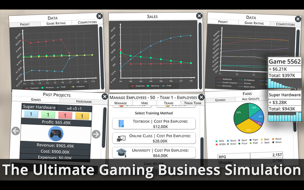 Game studio tycoon 3 the ultimate gaming business for Business simulator