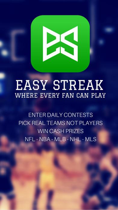 Easy Streak: Daily Sports Pools for Cash Prizes - Basketball, Hockey, Baseball, Football, Soccer & College One Day Fantasy Pick