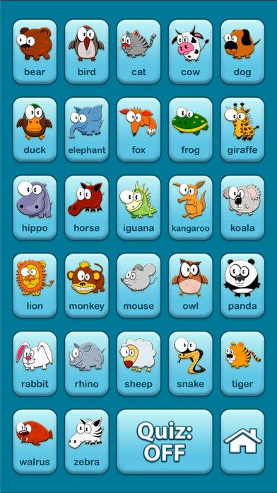 Animals Audio Talking Baby Learning Game Free Lite iPhone Screenshot 3