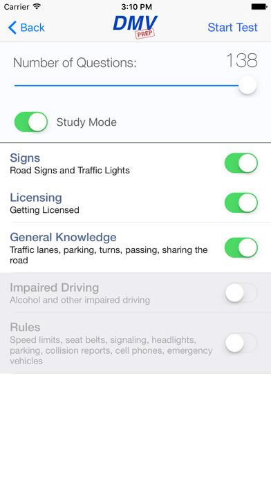DMV Test Prep - Minnesota iPhone Screenshot 2