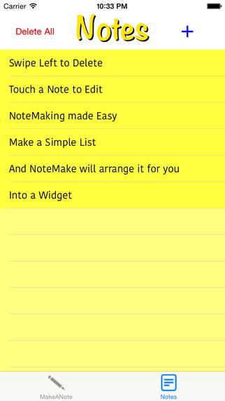 NoteMake Screenshots