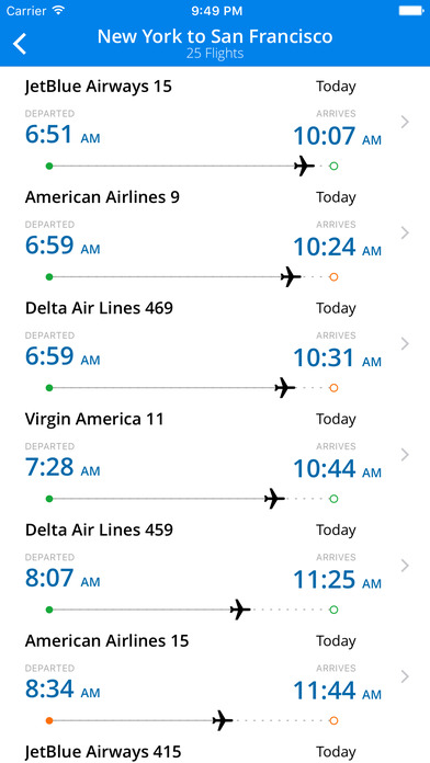 Flight Status - Live Flight Tracker iPhone Screenshot 2