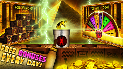 Screenshot 3 Slots Golden Tomb Casino — FREE Vegas Slot Machine Games worthy of a Pharaoh!