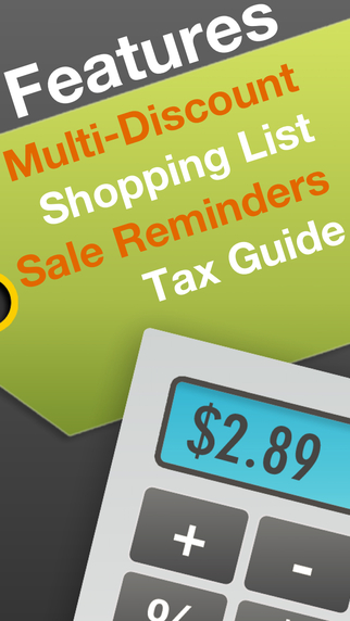 Discount Calculator PRO With Shopping List, Coupons Reminders & Sales Tax Guide Screenshots