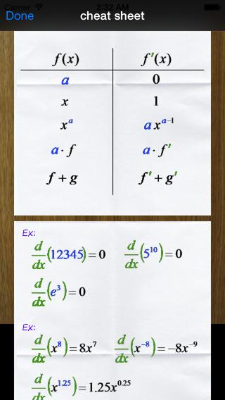 i Take Derivatives iPhone Screenshot 5