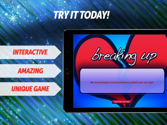 Breaking Up FREE iPad Screenshot 1