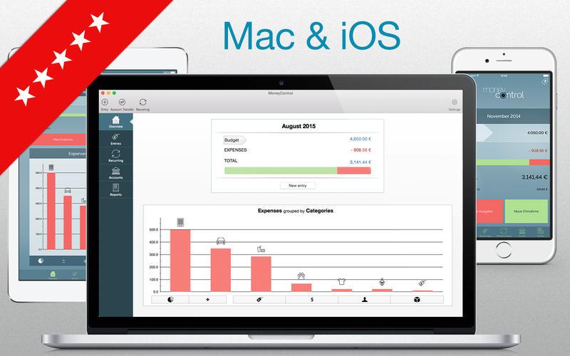 收入和费用跟踪 MoneyControl   for Mac