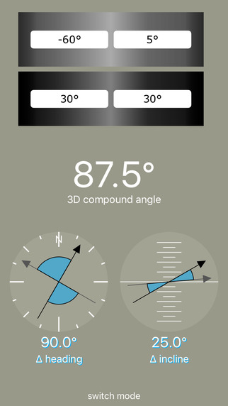 Compound Angles Calculator and 3D Angles Meter Screenshots