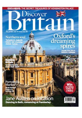 Discover Britain Magazine screen