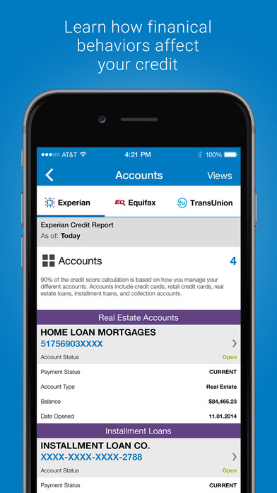 experian free credit report on the app store. Black Bedroom Furniture Sets. Home Design Ideas