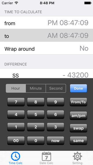 Time Difference Calculator iPhone Screenshot 3
