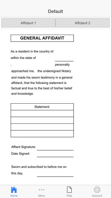 Affidavit Screenshots