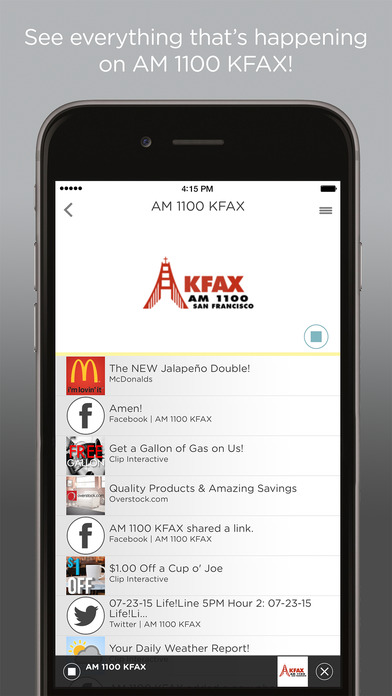 AM 1100 KFAX iPhone Screenshot 1