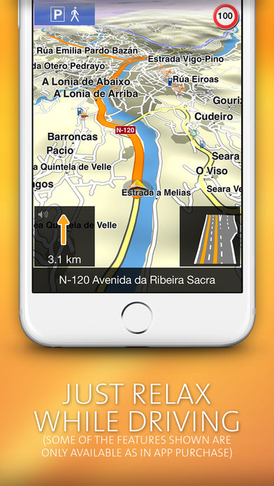 NAVIGON MobileNavigator Iberia iPhone Screenshot 3