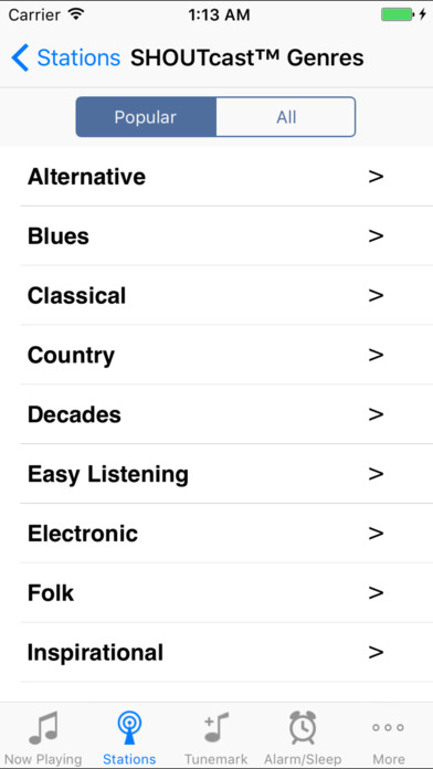 Tunemark Radio iPhone Screenshot 4