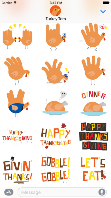 download Hand Turkey Stickers apps 4