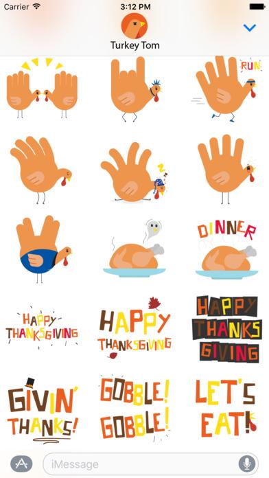 download Hand Turkey Stickers apps 2