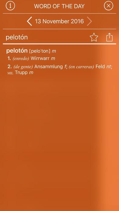 PONS Compact Dictionary Spanish <> German iPhone Screenshot 2