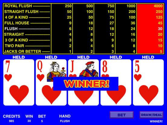 Video Poker HD iPad Screenshot 1