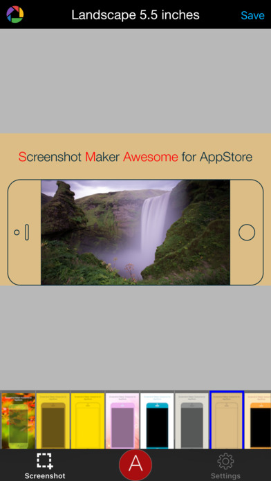 Screenshot Maker Awesome for AppStore Screenshots