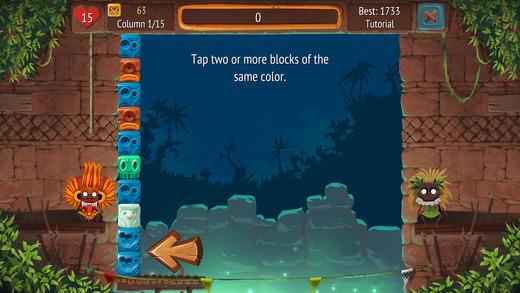Tap the Blocks Screenshot