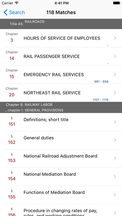 Railroads (Title 45 United States Code) iPhone Screenshot 5