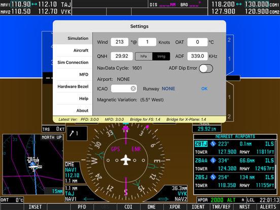 Скачать Simionic Simulator for Garmin G1000 (PFD)