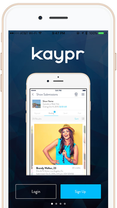 Kaypr - Talent Casting & Audition Changes Forever iPhone Screenshot 1