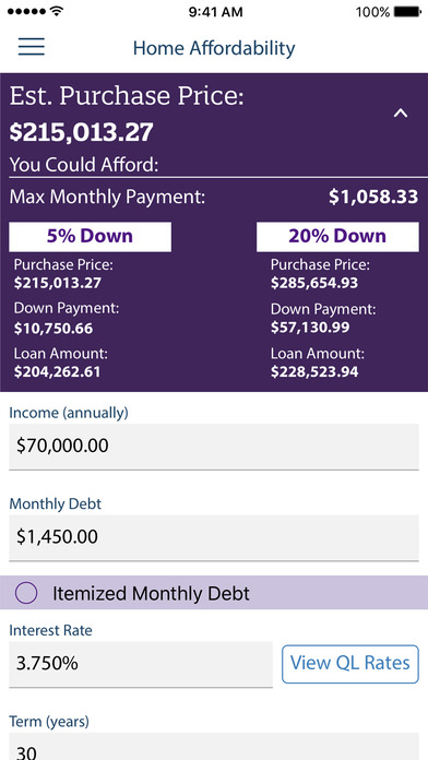 Mortgage Calculator by Quicken Loans on the App Store