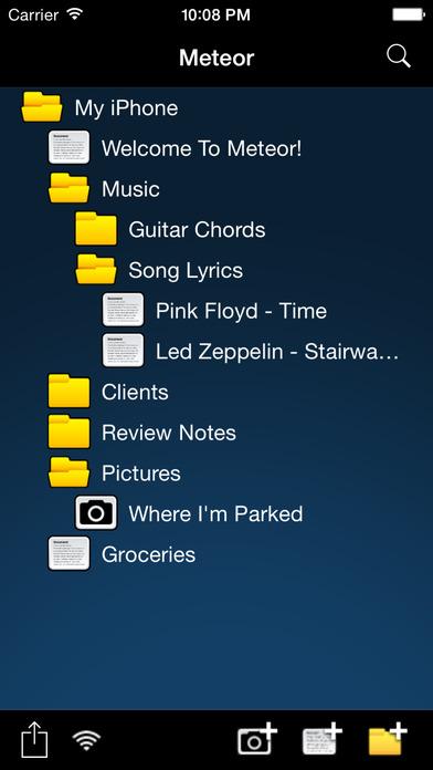 Meteor Notes Lite iPhone Screenshot 1