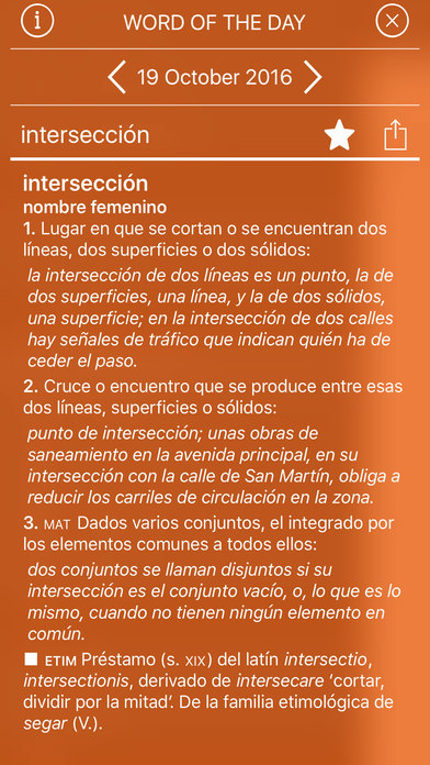 VOX General Spanish Dictionary and Thesaurus iPhone Screenshot 2
