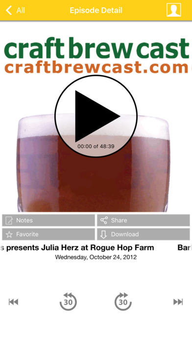 Craft Brew Cast: Microbrew Fests and Brewery Interviews iPhone Screenshot 1