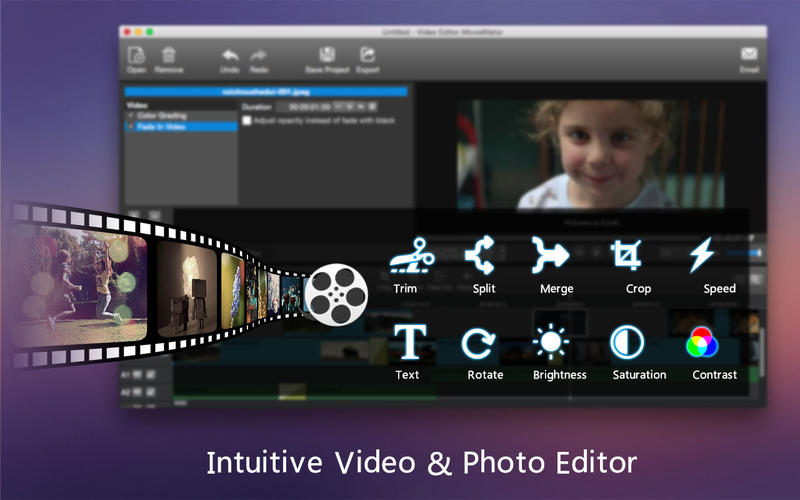 Video Editor MovieMator – Free Movie & Film Maker! Apps for iPhone/iPad screenshot